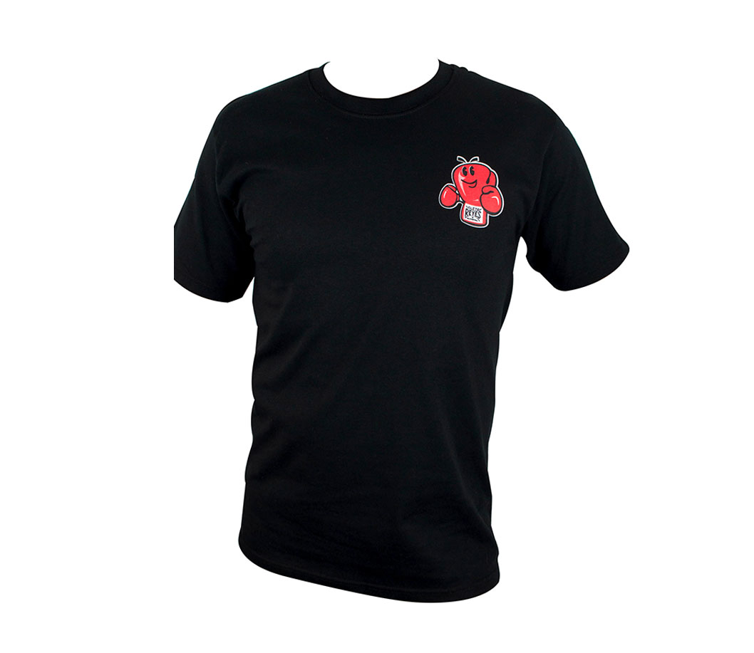 Black Cleto Reyes Printed Fighter Logo T-Shirt