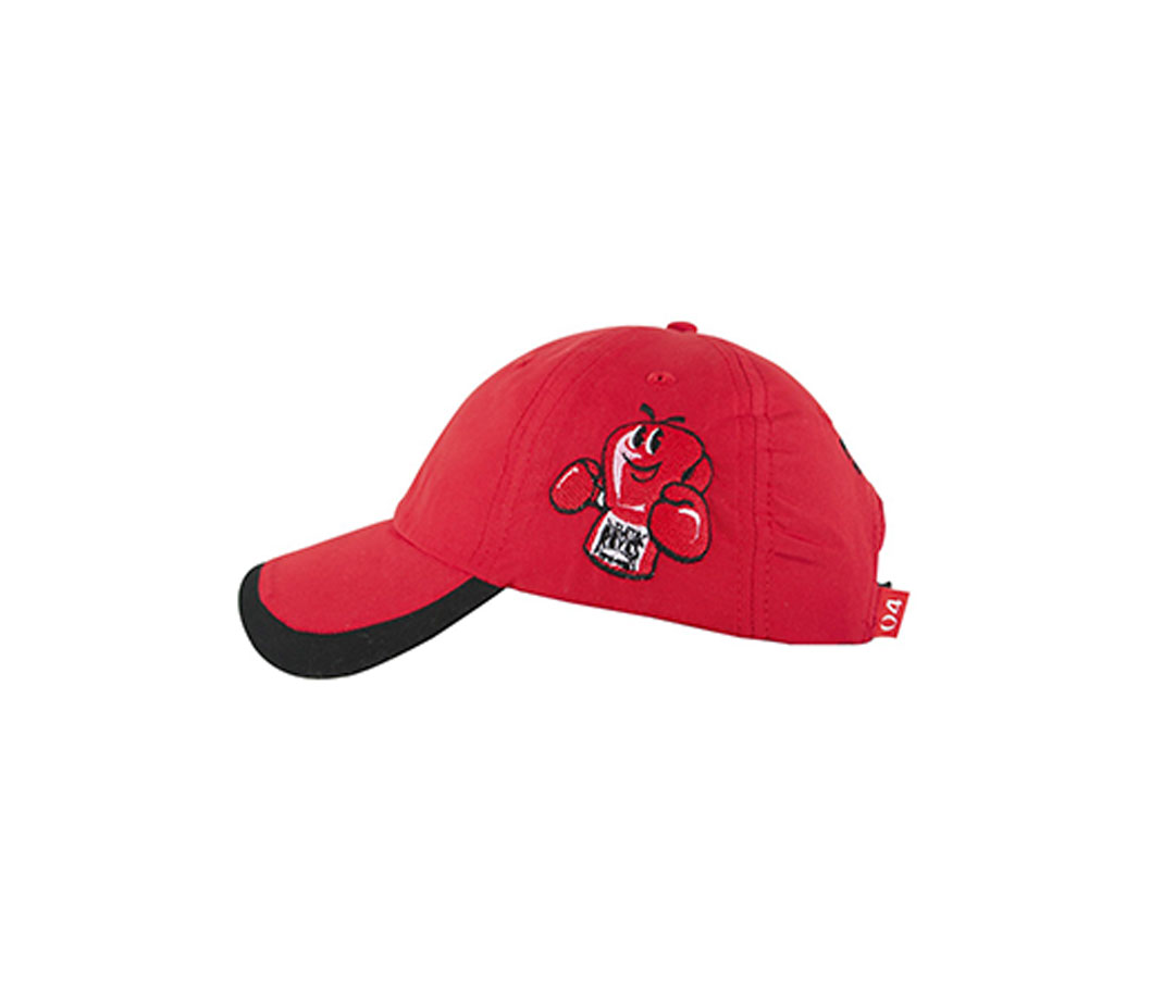 Product shot of red Cleto Reyes cap with red logo
