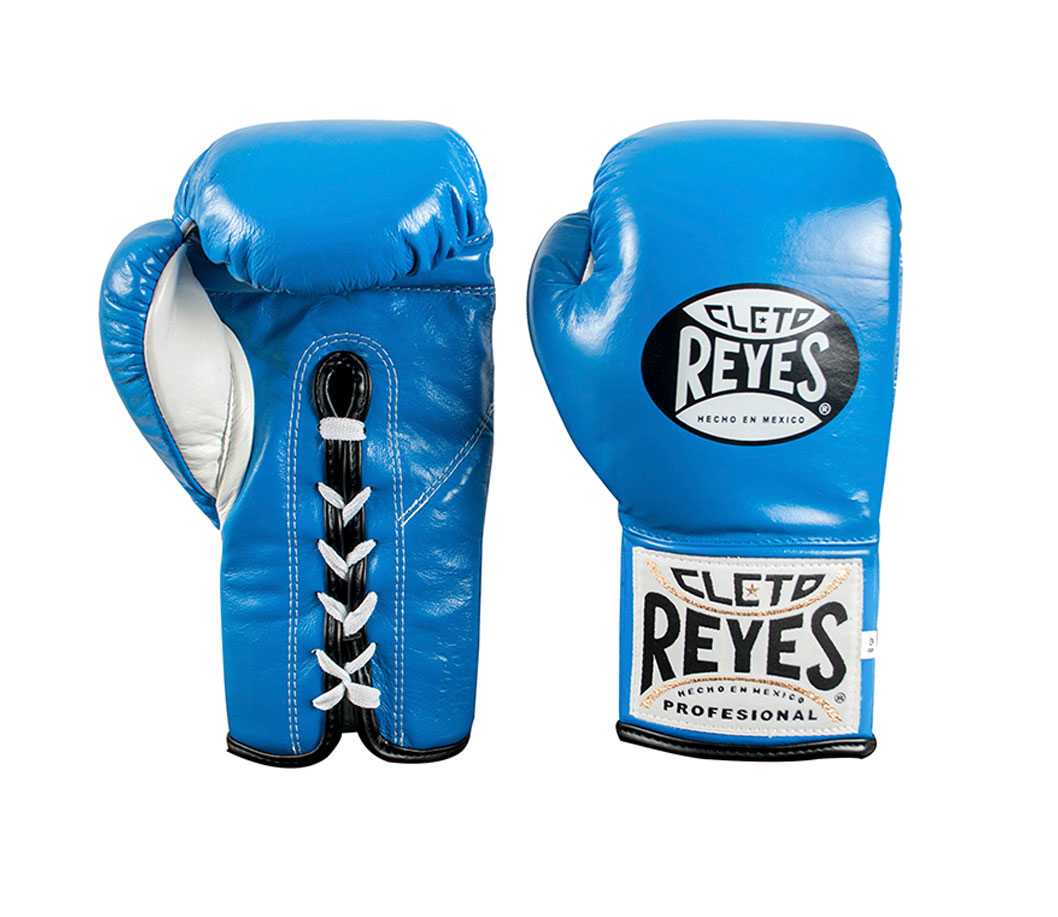 Blue Cleto Reyes Sparring Gloves, Traditional Lace